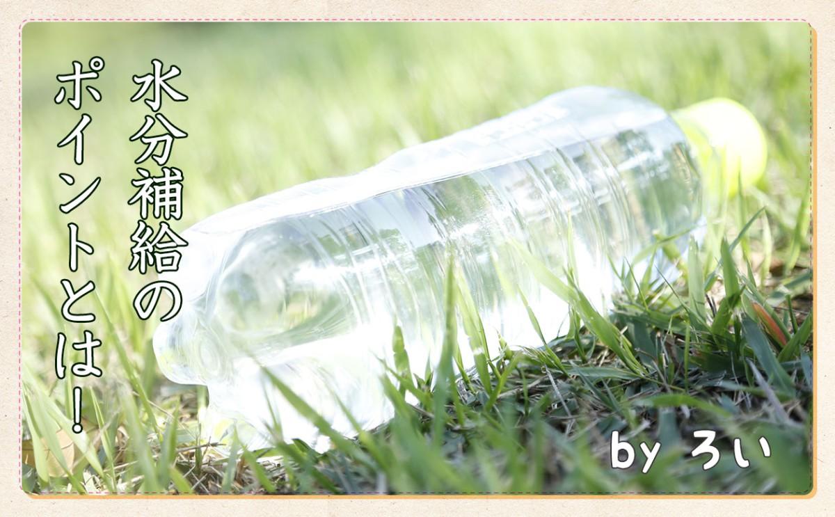 水だけはNG?汗をかいた時の水分補給のポイント