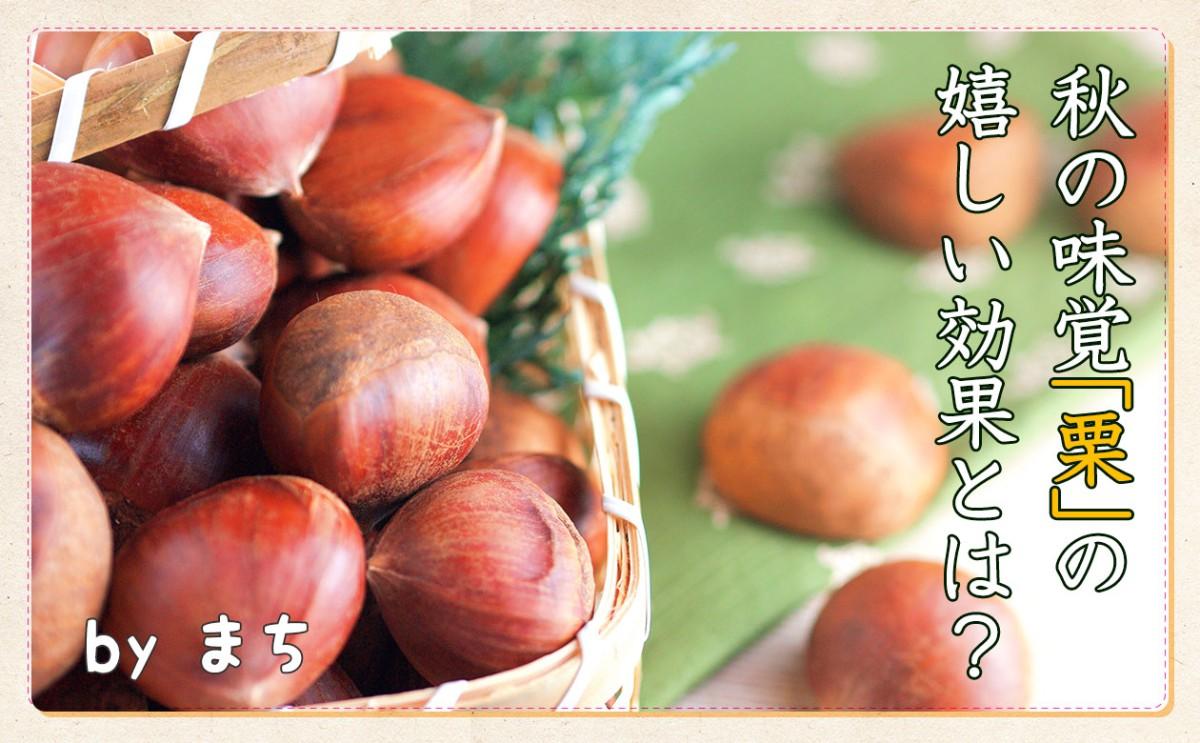 秋の味覚「栗」には嬉しい効果がたくさん!!